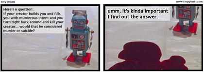 robot murder suicide